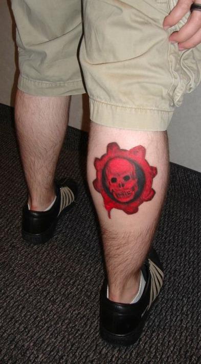 More Gears of war tattoos !!! (Leg) | GamerBlogTv\'s Blogg Talk