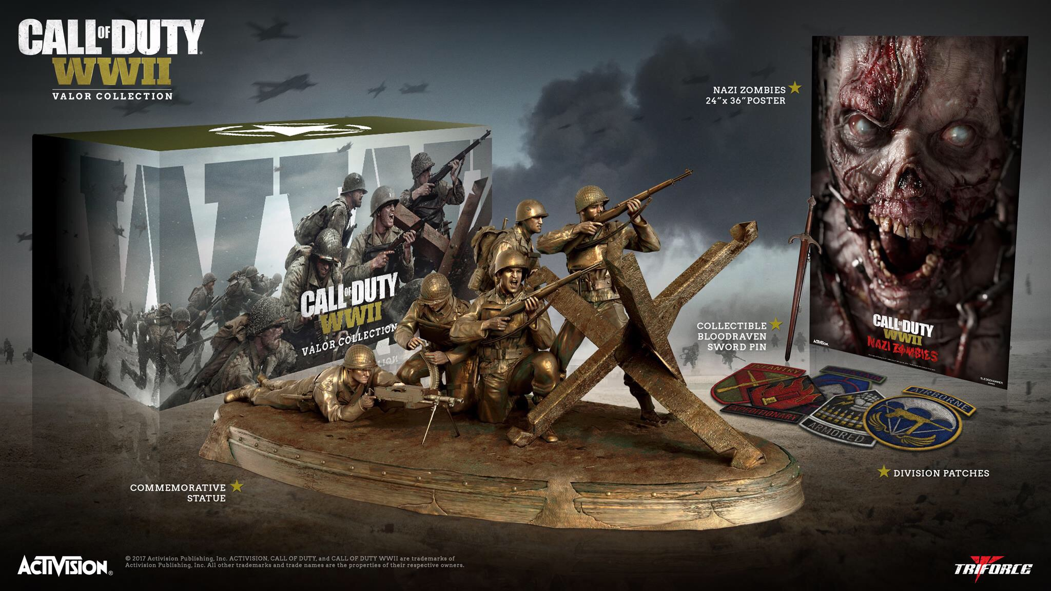 The Centerpiece Of Valor Collection Is Bronze Statue That Appears To Be Inspired By A D Day Scene